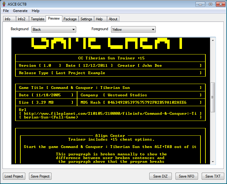 ASCII GCTB freeware