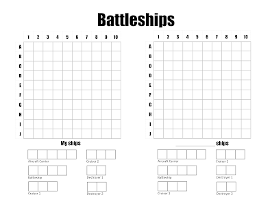Influential image with battleship game printable