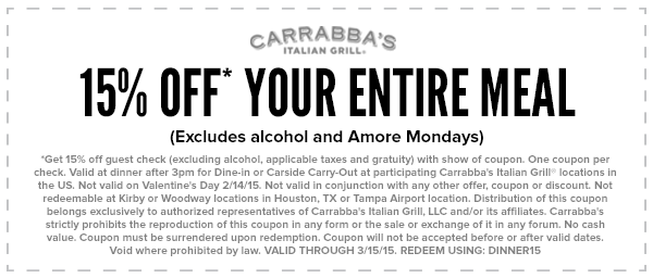 Refer to a friend, and get 15% off your next meal at