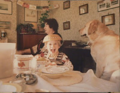 William Sandy the Labrador and Mother - Sunday lunchtime