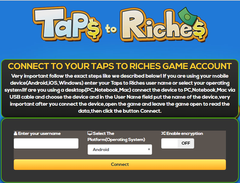 tap to riches hack ios download