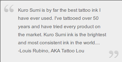 kuro sumi best tattoo ink