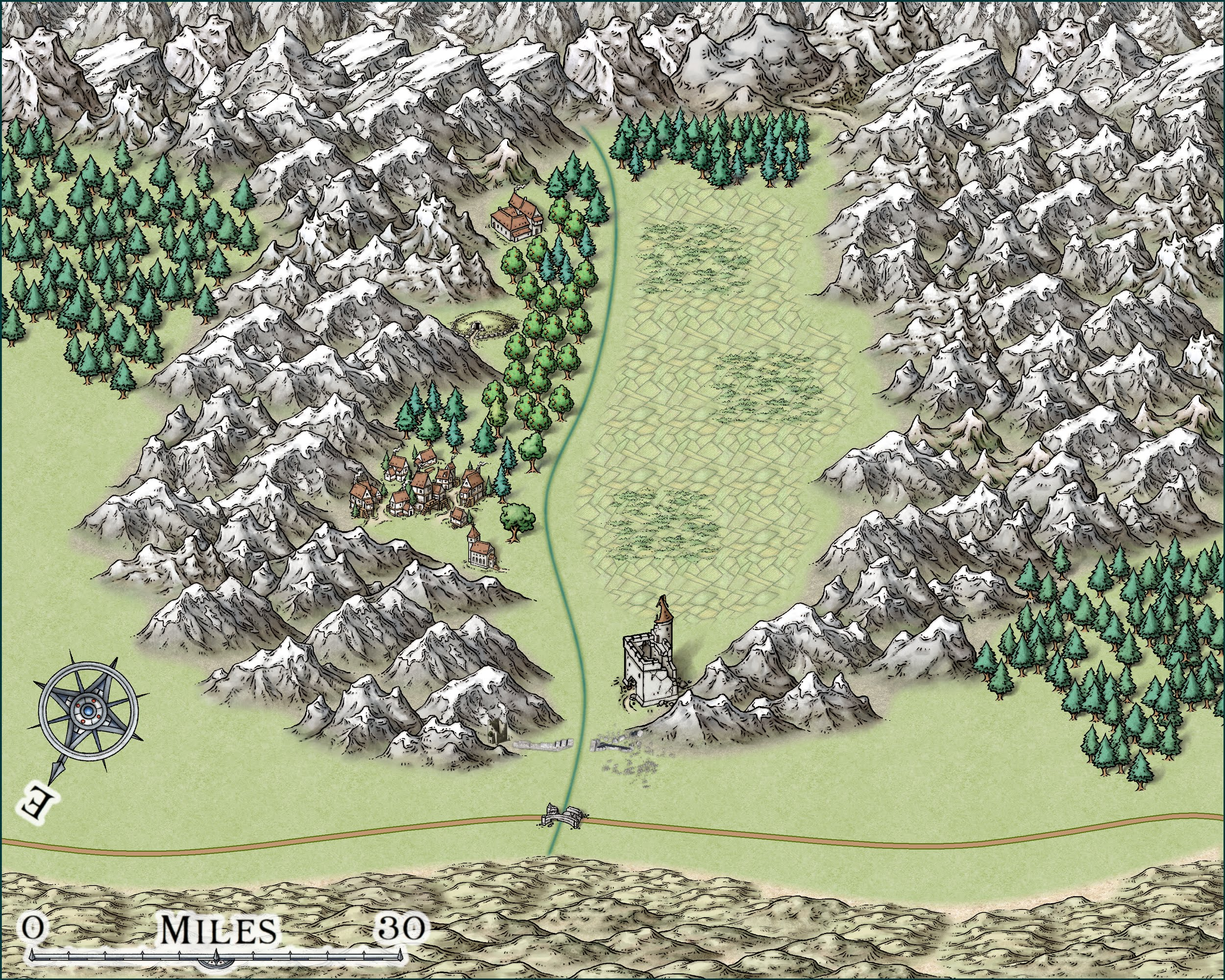 Hidden Valley Map
