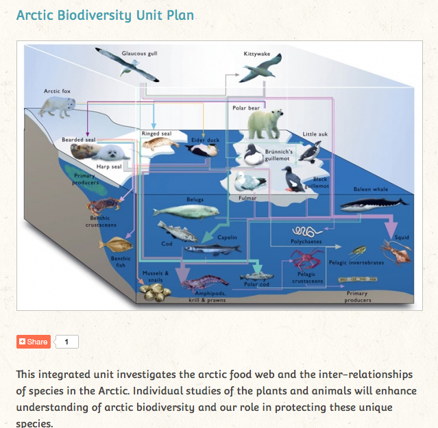 http://www.polarbearsinternational.org/for-teachers/units-and-lessons/arctic-biodiversity