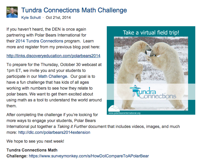 http://blog.discoveryeducation.com/blog/2014/10/21/tundra-connections-math-challenge/