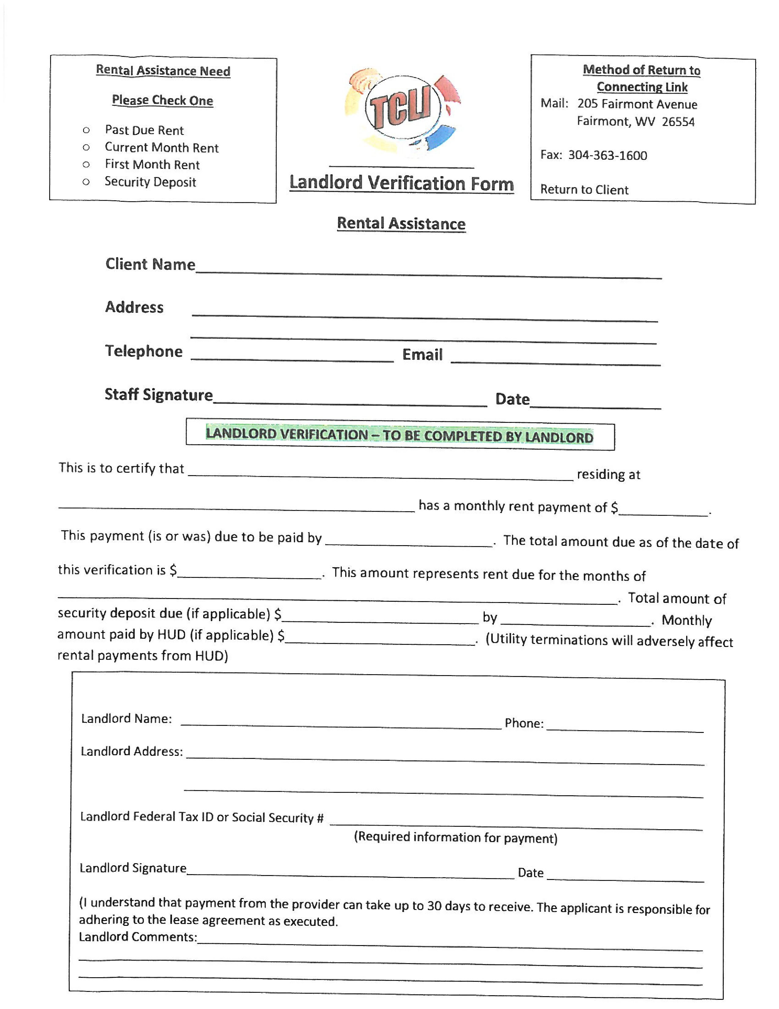 Google Sites  Landlord Verification Form