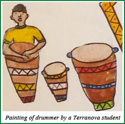 Painting of a drummer
