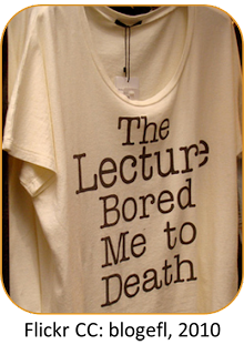 Lecture bored me to death image