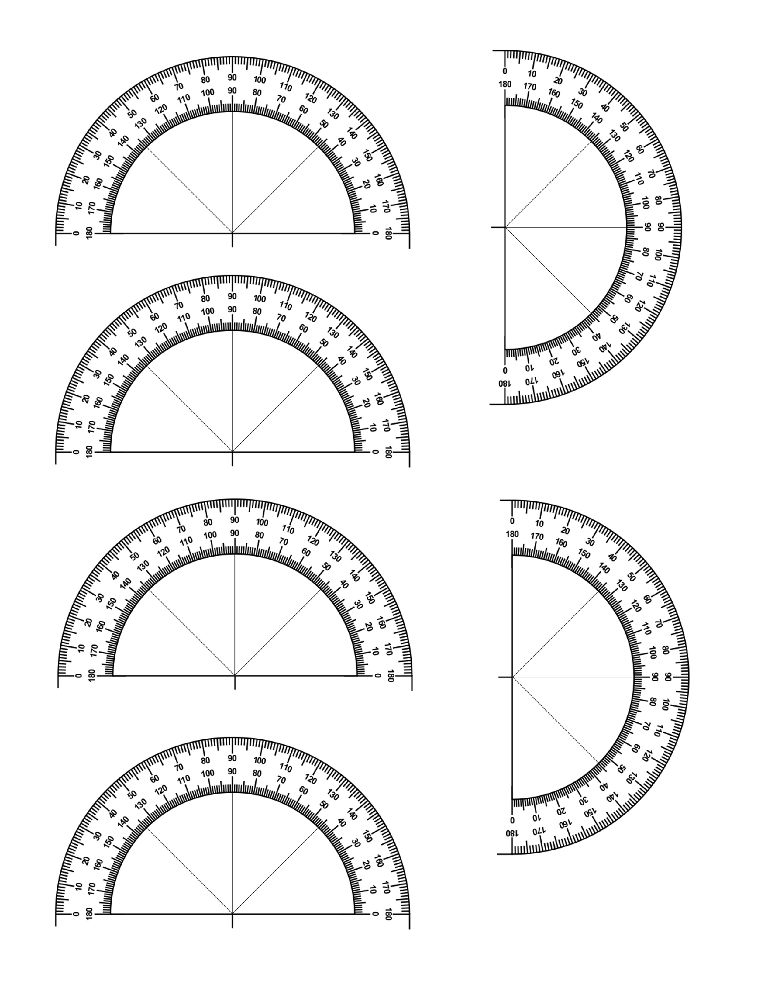 Protractor template free images free printable protractor pronofoot35fo Choice Image