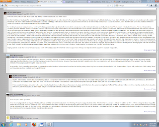 Online learning discussion screenshot