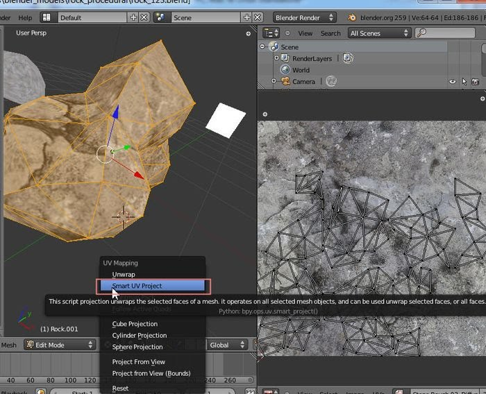 Procedural Rocks Blender for games - Terry Morgan