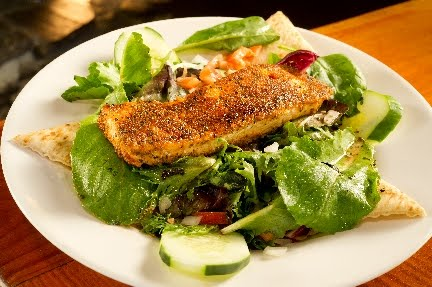 Neighbor's Pub - Blackened Salmon Salad