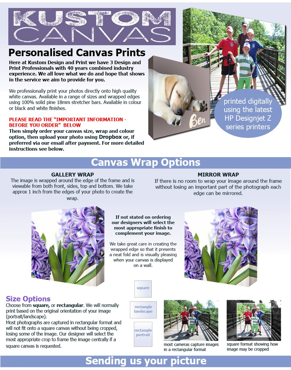 Details about photo canvas print your photo onto canvas personalised