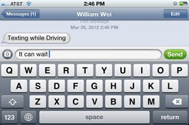 texting while driving summary