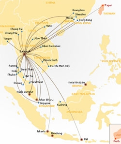 international flights asia
