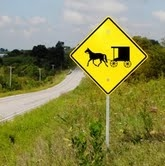 symbols the amish subculture the horse and buggy sign is often seen in amish territories as for the symbols on the barn it is perceived that they ward away evil