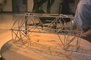 making a bridge out of toothpicks