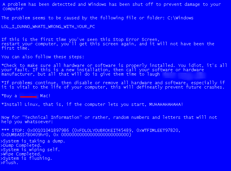 the bsod the big pie 101