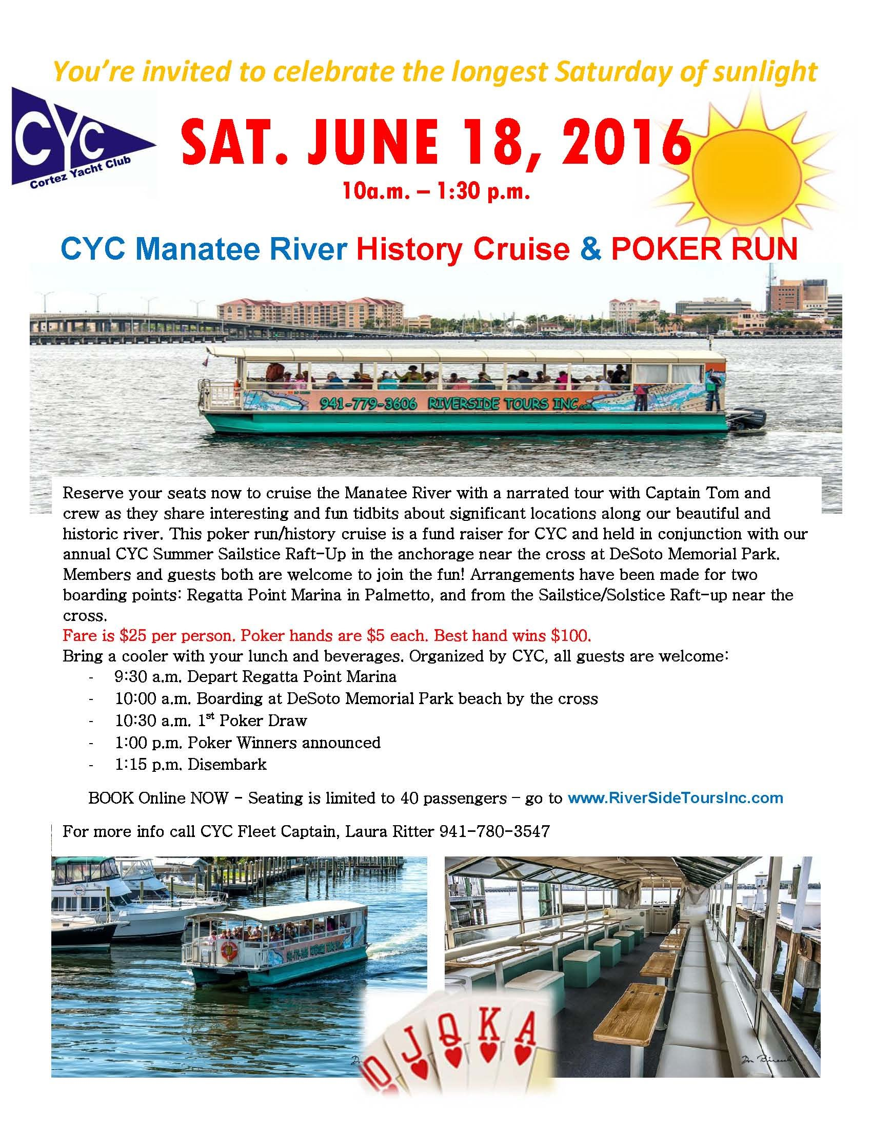 SIGN-UP NOW for RIVER CRUISE Fundraiser Sat. June 18
