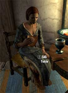 Ysolda is saving her money to buy The Bannered Mare from Hulda. Unlike the  other citizens of Skyrim, she is friendly with the Khajiit.