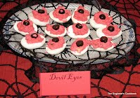 Devil eyes - a warm, bacon variation on deviled eggs