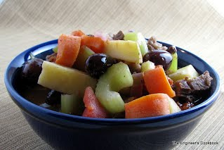 Rustic Olive Stew with Kalamata Olives, Potatoes, Carrots, Celery & Tomatoes