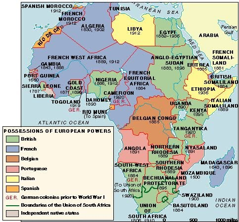 Map Of Africa During Imperialism.African Colonies Imperialism In The Late 19th And Early