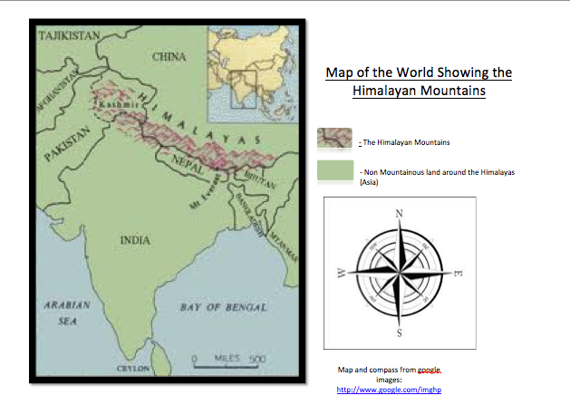 Himalayan Mountains World Map Where are the Himalayan Mountains?   The Himalayan Mountains