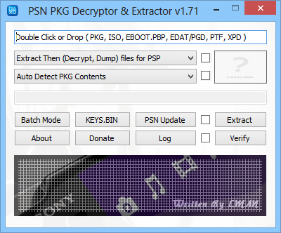 PSN PKG Decryptor & Extractor v1 83 (UPDATED 11-03-2014) - wololo
