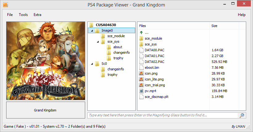 PS4PKGViewer - leecherman