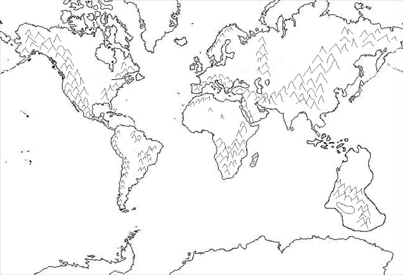world physical map blank - 28 images - best photos of world map ...