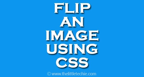 Flip an image using CSS