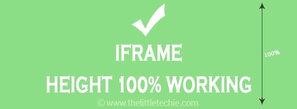 iframe with 100% height - Working