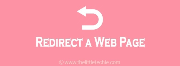 How to Redirect a Web Page