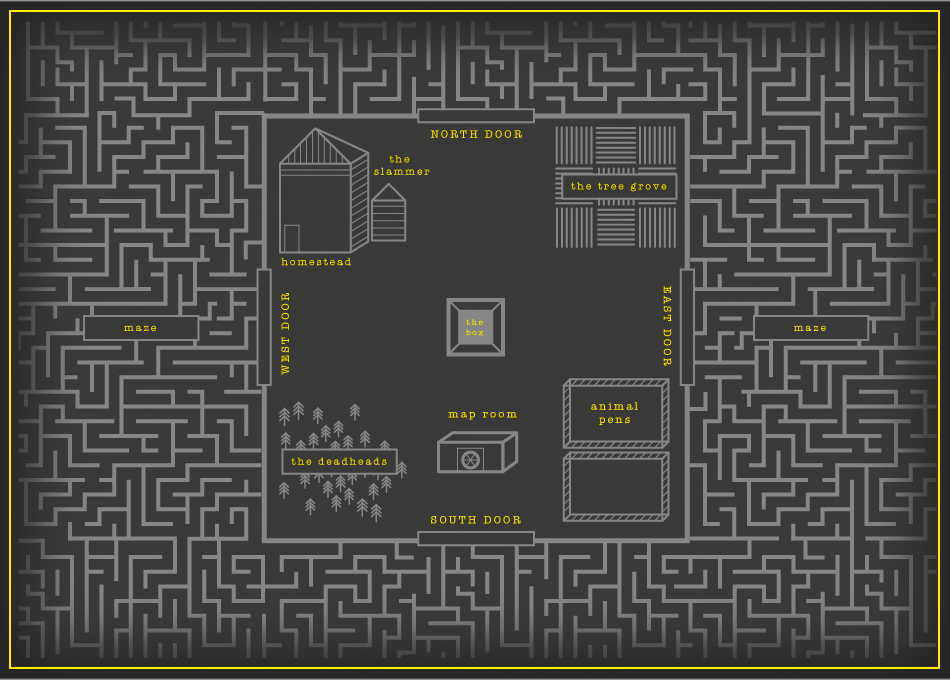 Maze Runner Maze Map Map   The Maze Runner