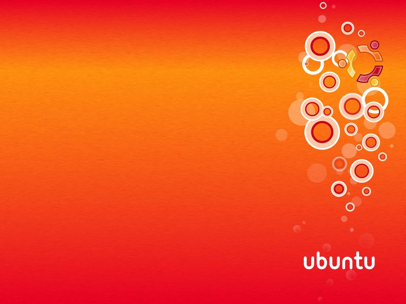 Orange Bubbles wallpaper