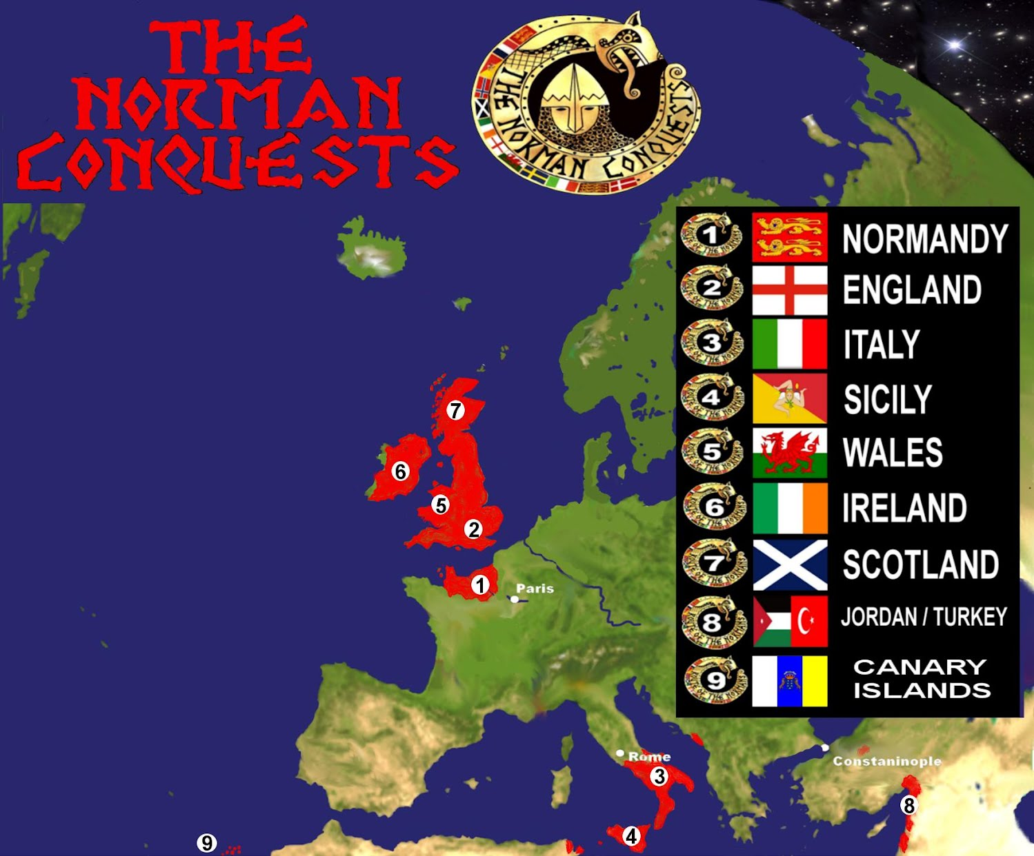 Map of the norman conquests thenormanconquests911 ireland scotland and wales to the sun drenched shores of sicily a series of nine books has been created to allow you to explore the norman world gumiabroncs Gallery