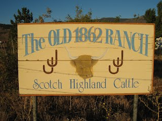 Sign and brand for the Old 1862 Ranch