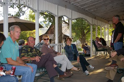 F2T guests enjoying the shaded porch