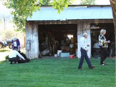 Guests touring the ranch
