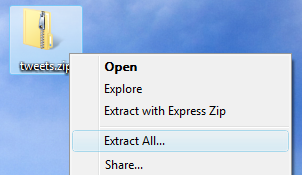 Extracting on Mac, Linux, or other operating systems may be different.