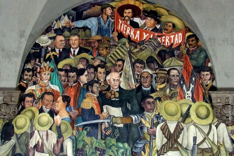 The rights of peons for Diego rivera first mural