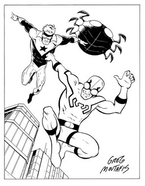 How to draw the blue beetle for Blue beetle coloring pages