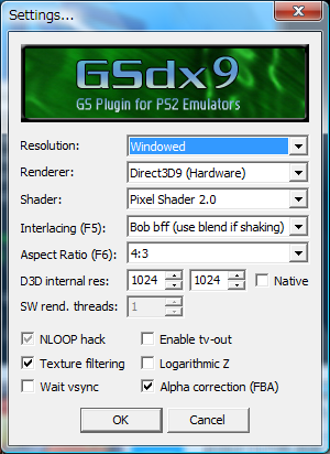 PCSX2設定 - The substitute for memo