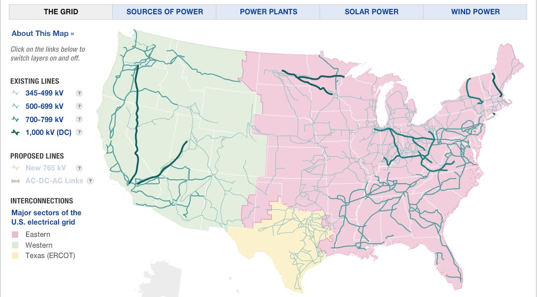 Aging Infrastructure The US Power Grid - Us infrastructure map