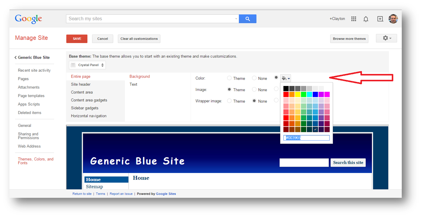 formatting the background for your google site part 1 the