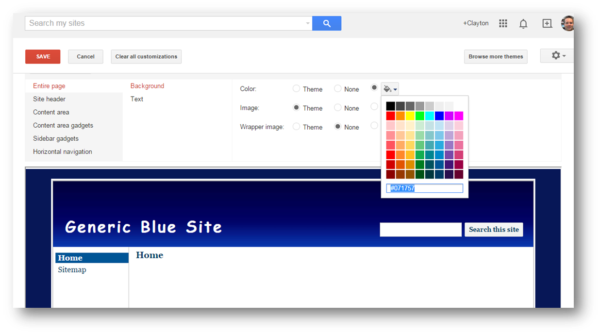 Formatting The Background For Your Google Site Part 1 The Background Colors For Web Pages