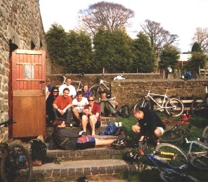 Cyclists at Thorpe Farm Bunkhouses