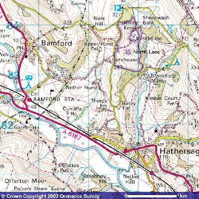 Ordnance Survey Get A Map Mapping + GPS   Thorpe Farm Bunkhouses Ordnance Survey Get A Map