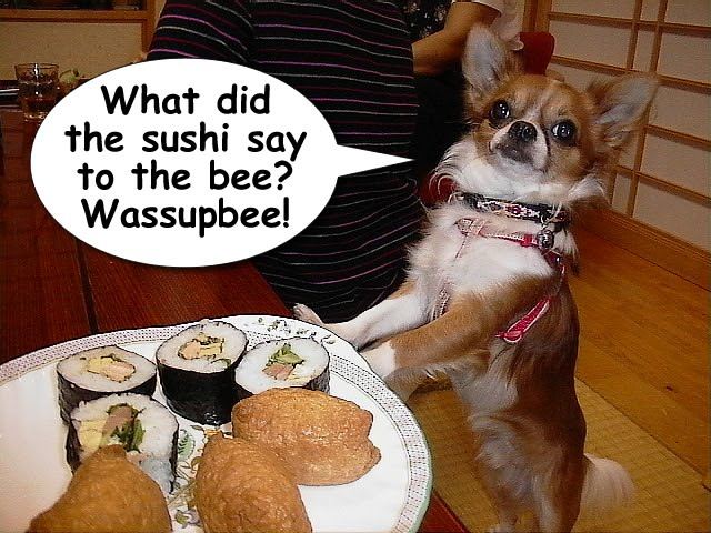 From TigerSan's PhotoBlog: What did the sushi say to the bee? Wassupbee!